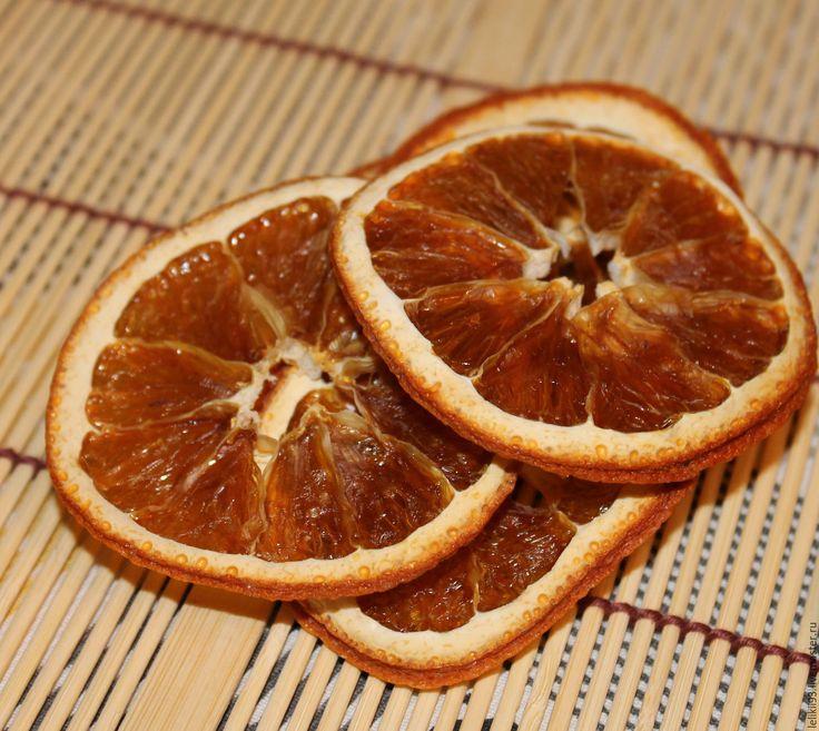 Купить Апельсин & лимон дольки сушеные 1 шт - желтый, апельсин сухой