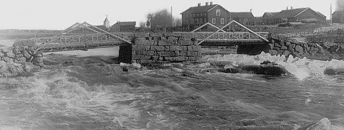 Yrjäälän silta v. 1914,    The bridge of Yrjäälä in 1914