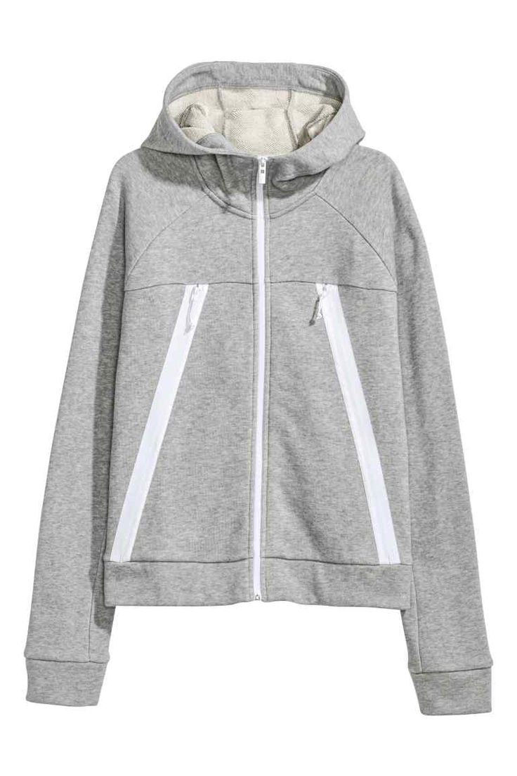 Outdoor jacket with a hood - Light grey marl - Ladies | H&M CA