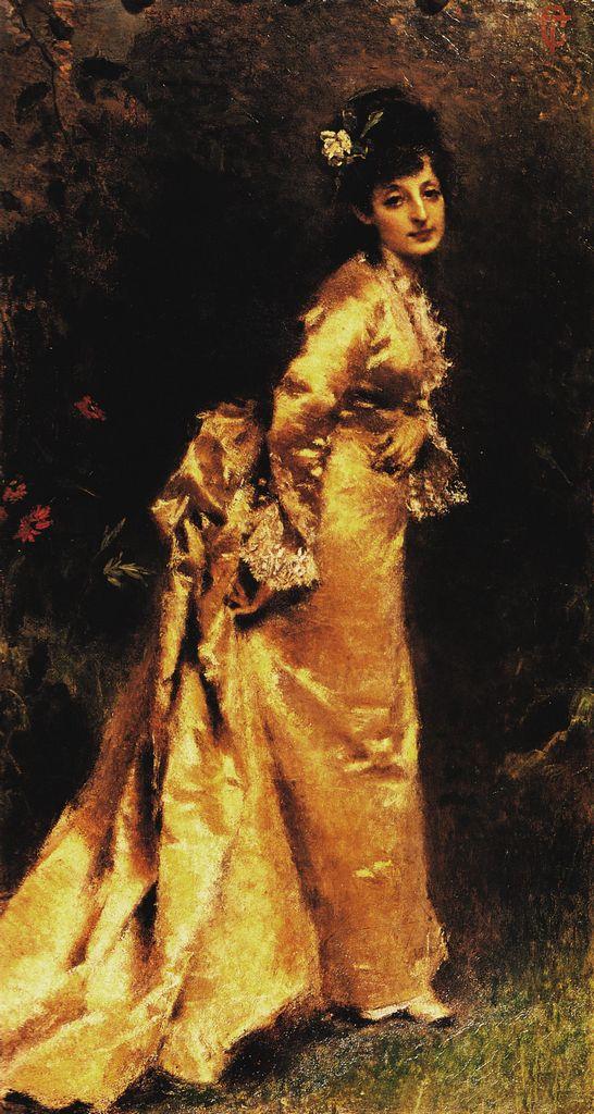 """Tranquillo Cremona (1837-1878) """"Ritratto di Maria Marozzi"""" 1873-1874 Milano, Collocazione Civiche Raccolte d'Arte"""