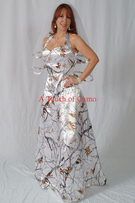 camo wedding dress.