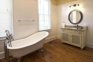 Tricks for saving instead of splurging during bathroom renos. Great for the frugal home owner!