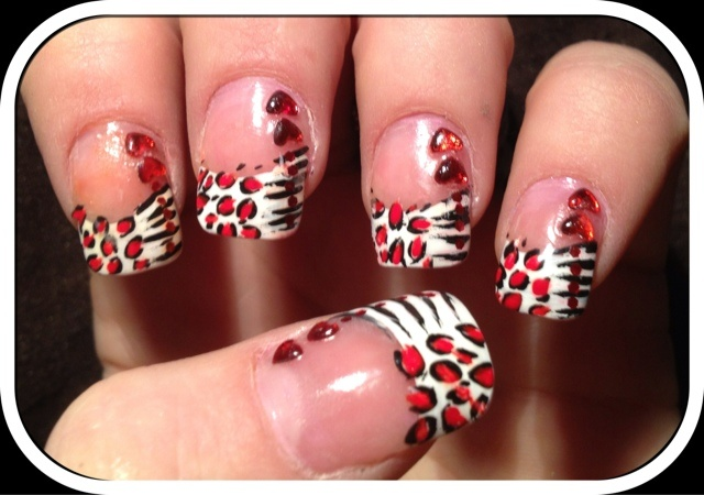 Nailed Daily: Valentines Day Wild Love