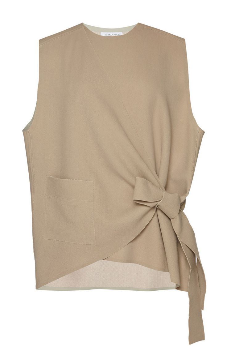 barbarasangi - Sleeveless Wrap Knot Shirt by J.W. ANDERSON for Preorder on Moda Operandi