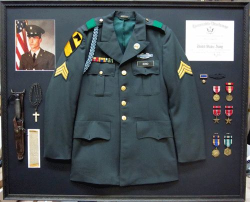 army uniform discharge photo and medals framed by frameworks of utah - Military Picture Frames