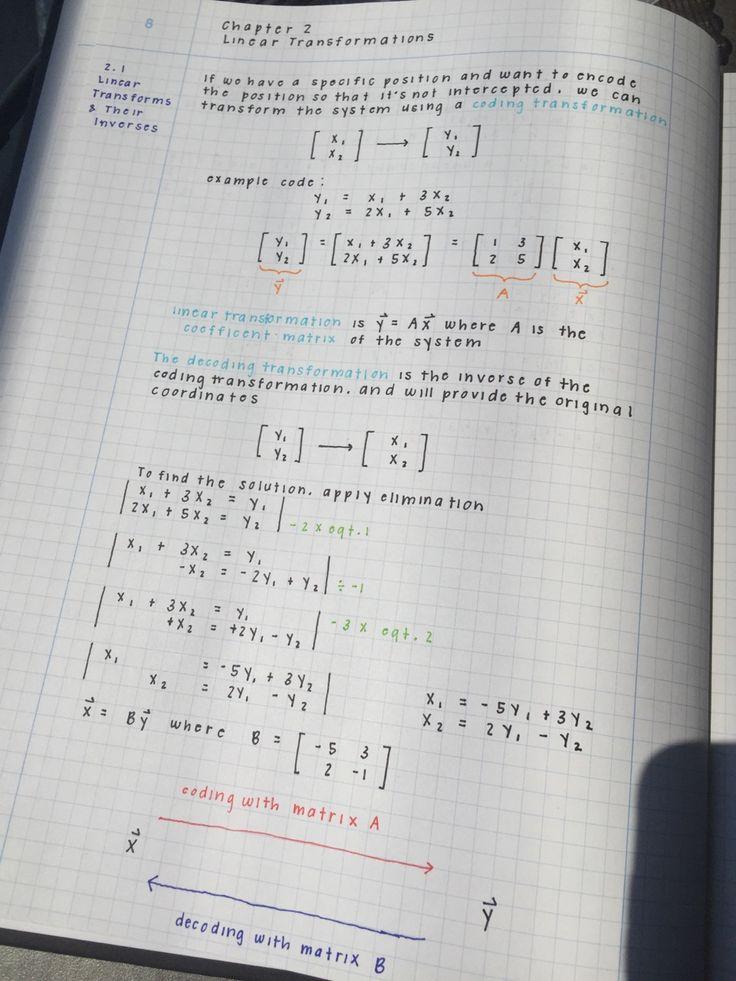 lilstudybug: slammyslam: Are my linear algebra notes neat enough ughhhhhhhhh…