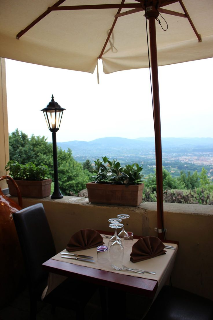 Restaurant view. Fiesole, italy.