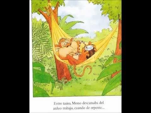 LA SELVA LOCA, un divertido cuento de Tracy y Andrew Rogers. En este día, a  Mono le toca lavar la ropa de todos los animales de la selva. Pero a la hora de devolver los trajes limpios, Mono se confunde y mezcla todos.