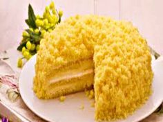 A pretty yellow mimosa cake to celebrate the women in your life... Happy Womens Day GETTING READY 1. Preheat the oven to 375 F 190 C or if a fan oven then to...