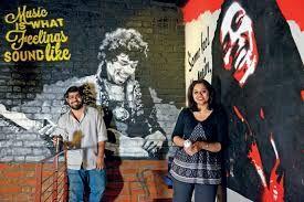 Graffiti at Cafe Reboot, Hyderabad,India.