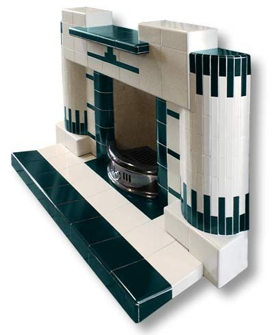 Cadiz Art Deco complete tiled fireplace