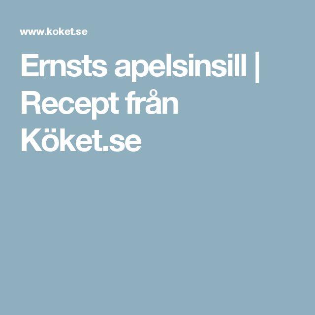 Ernsts apelsinsill | Recept från Köket.se