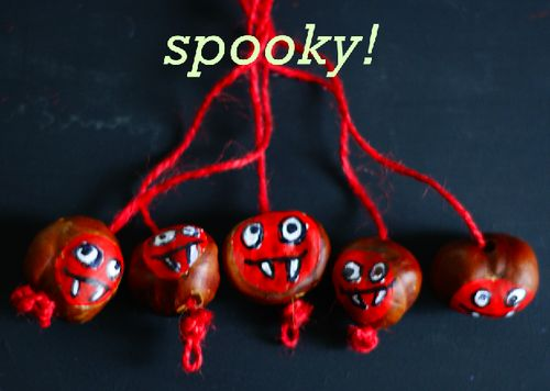 Daisy & Finn are bonkers for these spooky conkers!