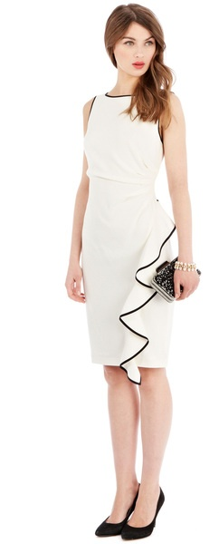 Coast Tipped Irah Dress in White (mono) | Lyst
