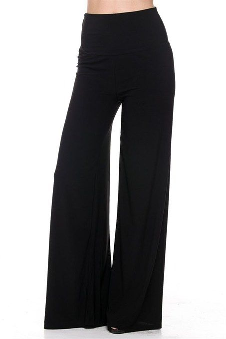 Perfect plus size palazzo pants in solid black! Wear them with anything or anywhere, dress 'em up or pair with a tee for an easy weekend look! You will forget and feel like you're wearing your jammies with these fabulous comfy pants. 96% rayon 4% spandex. Foldable waist band and the comfort will cause you to never give them up! Pair them with our famous Luxe Dolman Tops for an amazing look!