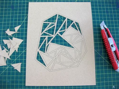 17 best images about geometric designs on pinterest for Geometric wall art diy