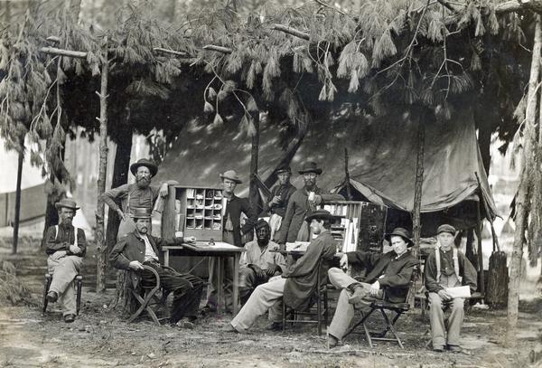 Army Post Office during the Civil War