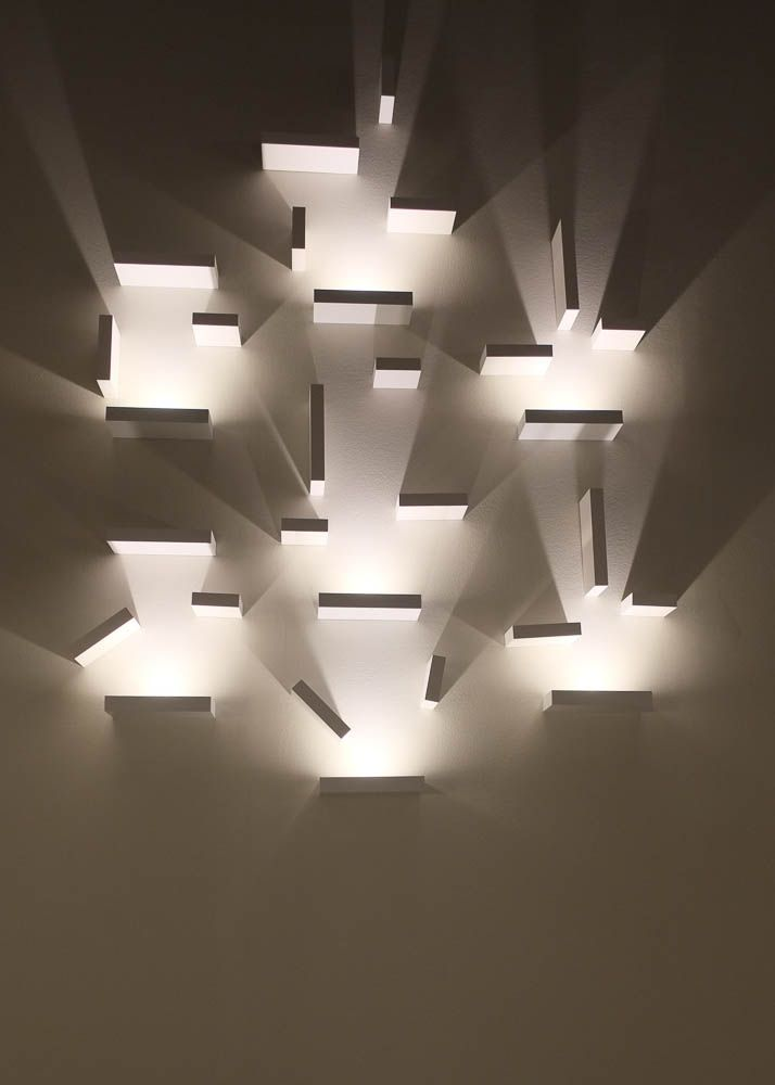 vibia contemporary wall light installation from 2014 frankfurt light building exhibition light_building - Designer Wall Lamps
