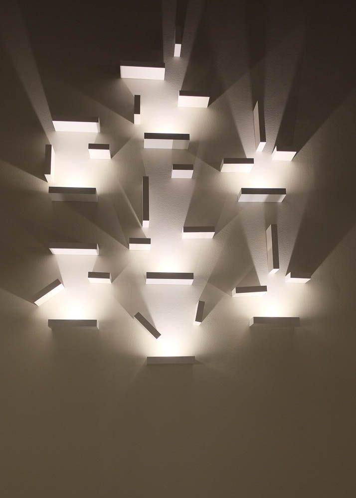 Vibia contemporary wall light installation from 2014 frankfurt light building exhibition light building