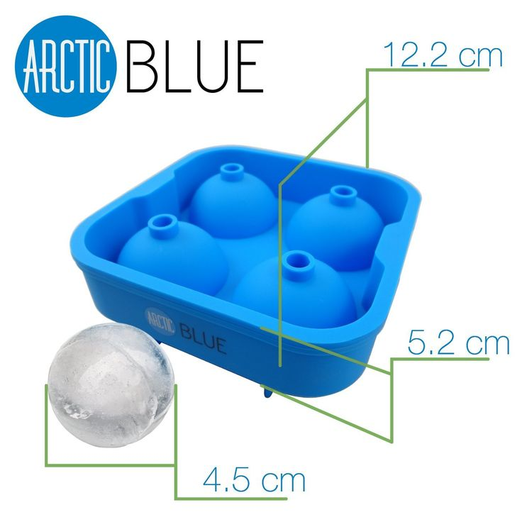 "Amazon.com: BEST Ice Mold Tray -5 Star Rated- Lifetime Guarantee- Makes Cool 2"" Ice Balls - Food Grade Silicone: Kitchen & Dining"