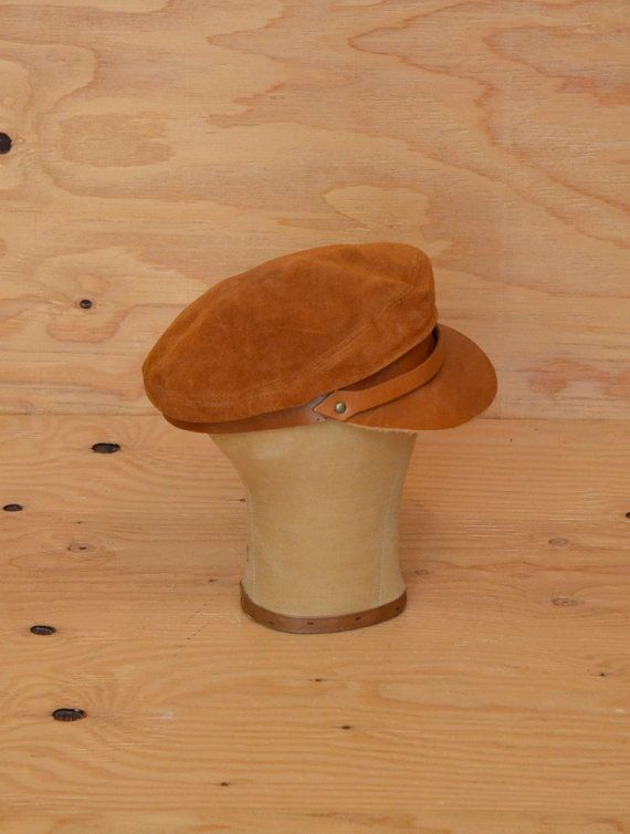 Vintage 60's Hat Brown Suede Page Boy Style Great by ThatchVintage