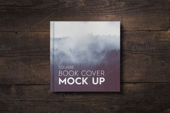 Square Book Cover Mockup by attraax on @creativemarket