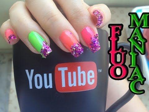 Fluo & Glitter Maniac Nail Art