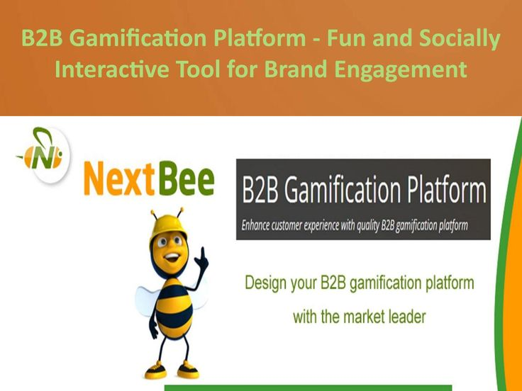 B2b gamification platform fun and socially interactive tool for brand engagement  Nextbee's B2b gamification platform can be used to encourage and engage your customers with different gamified activities that would add to their brand knowledge, engagement and a chance for profitable experience.  It provides many smart and robust tools for optimizing the value of your gamification platform based on your own business requirements.