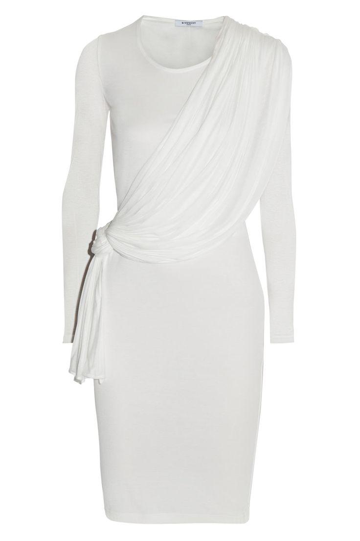 Givenchy|White draped jersey dress|NET-A-PORTER.COM