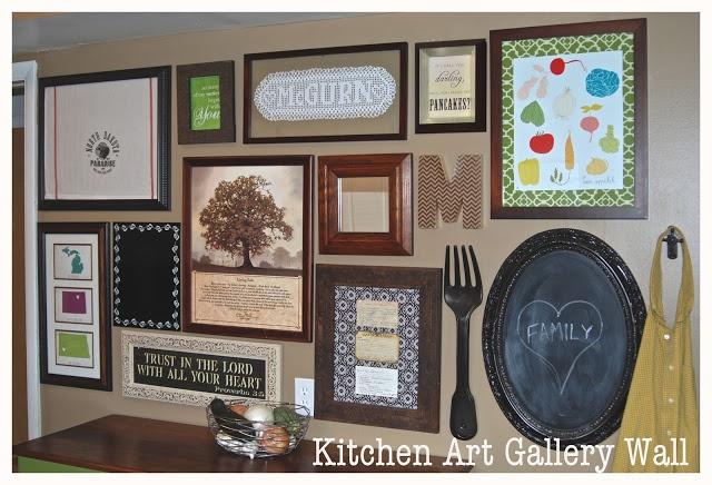 Bright Green Door Blog: Kitchen Gallery Wall