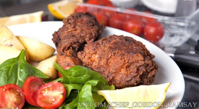 Жареная курица в пахте,  рецепт Гордона Рамзи