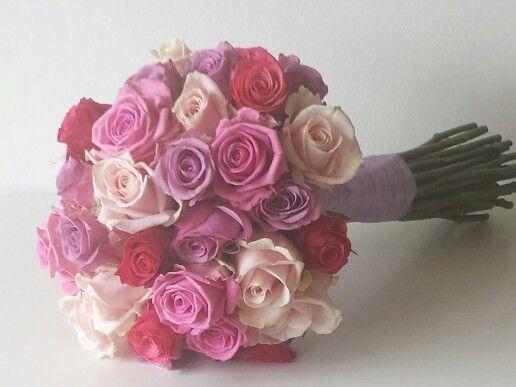 Bruidsboeket met diverse rozen