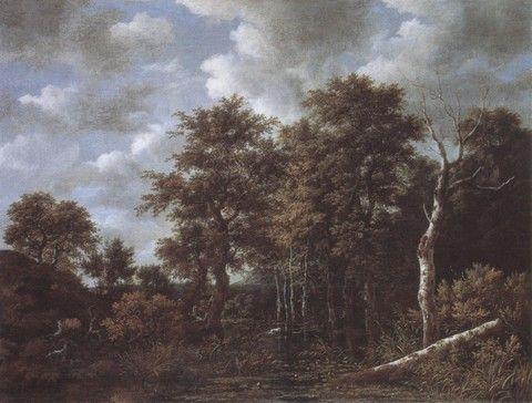 284. (Jacob van Ruisdael) Lake surrounded by trees [1665-70]