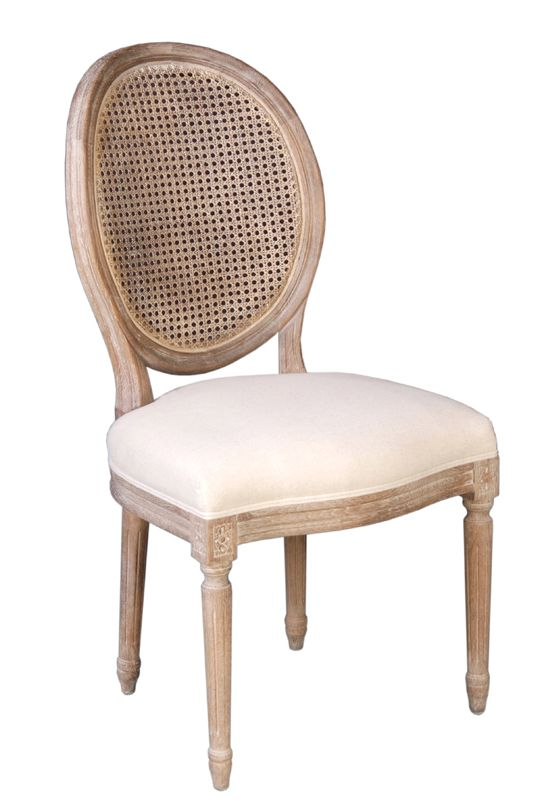 Cane back chair made with oak wood