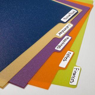 Lot de 5 intercalaires A5 polypro - Coloris assortis - pour cahier ARC STAPLES