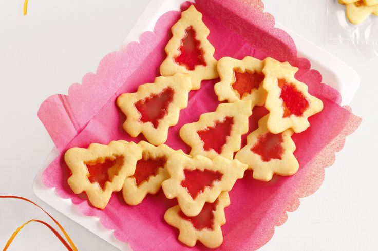 Add some decorative flair to your Christmas table with these sensational stained glass biscuits.