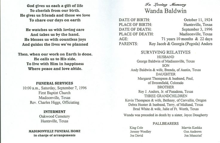 Memorial Service Programs Sample Template Memorial Service   Burial  Ceremony Program  Burial Ceremony Program