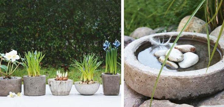 25 best macetas images on pinterest cement pots - Macetas de cemento ...