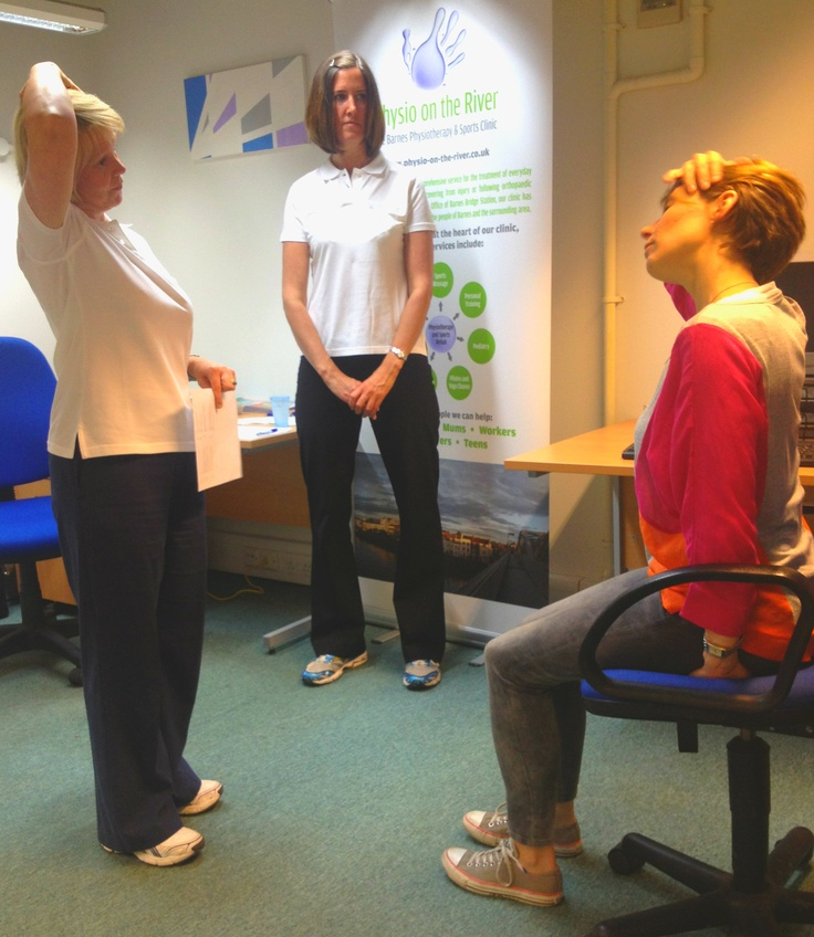 Our #physio demonstrating to office worker!