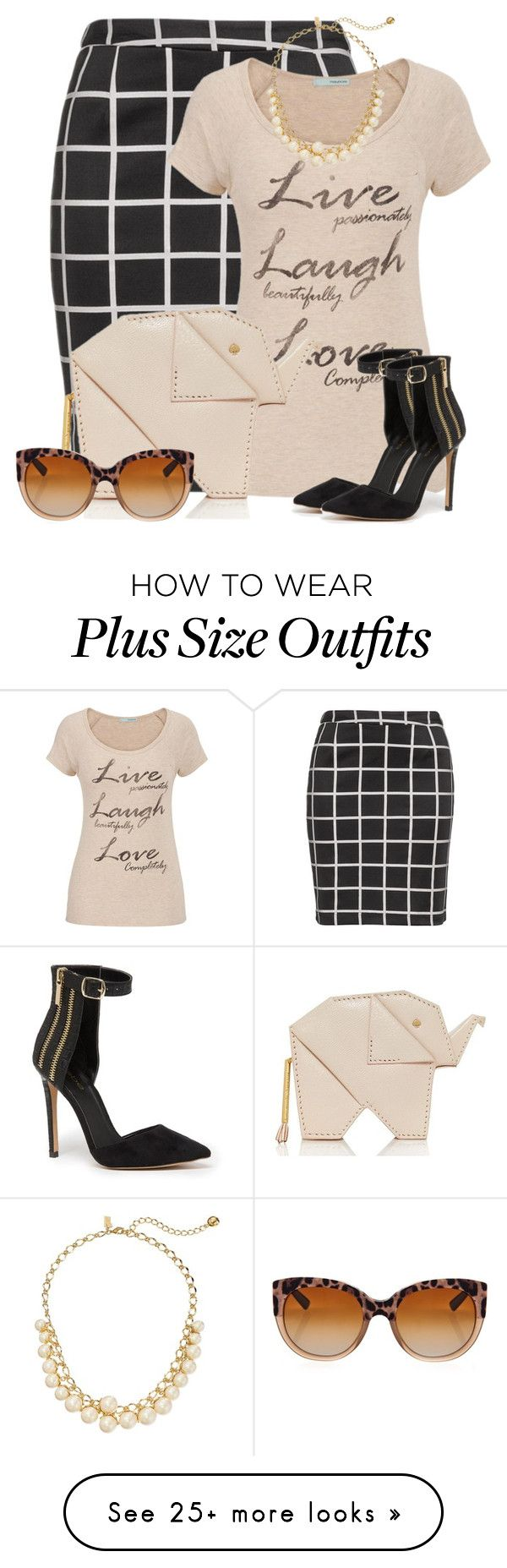 """""""Kate Spade Elephant Purse"""" by debpat on Polyvore featuring Zizzi, maurices, Kate Spade, Bebe and Dolce&Gabbana"""