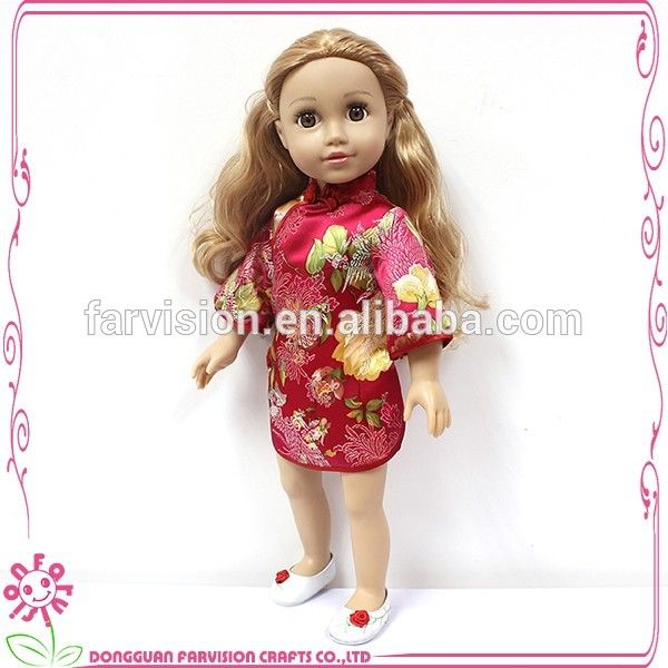 Embroidery China dress for dolls