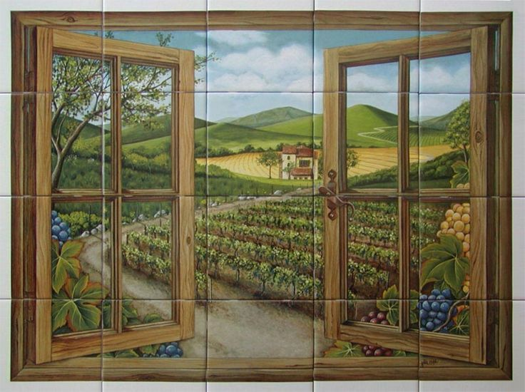 Trompe Lu0027oeil Tuscan Scene Murals | Uploaded To Pinterest