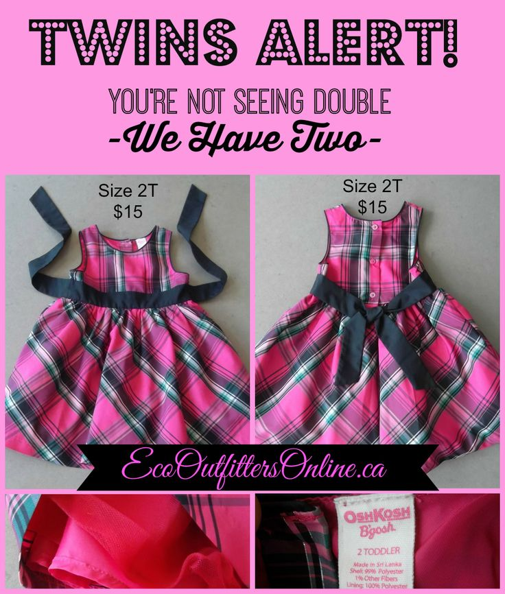 Twins Alert!  You're not seeing double  - We have 2! #twins #kidsfashion #consignment