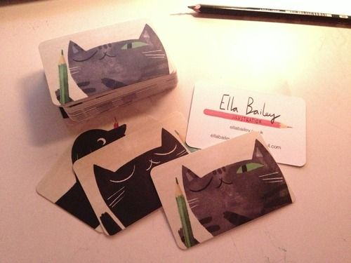 35 best illustration business card images on pinterest corporate ella bailey illustration business cards colourmoves