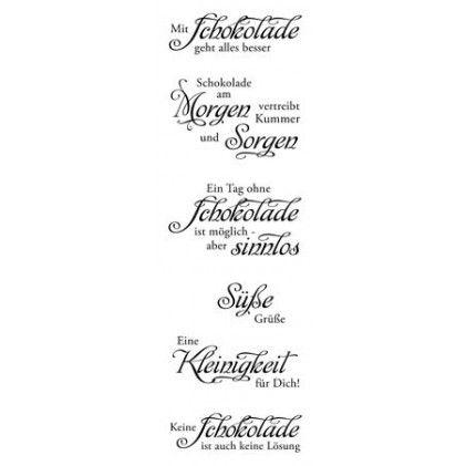 """Karten-Kunst Clear Stamp Set - Weise Worte """"Schokolade"""" - Gesehen bei Karten-Kunst!"""