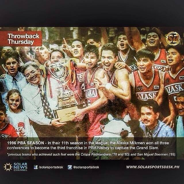 1996 Grandslam! The Aces won all 3 conferences to become only the 3rd PBA Franchise to achieve such a feat! :)