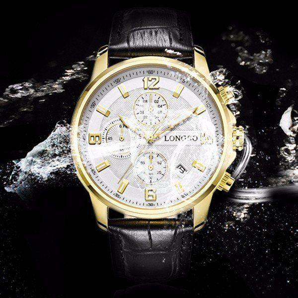 LONGBO Watch Stainless Steel Date Waterproof Luminous Sports Watch