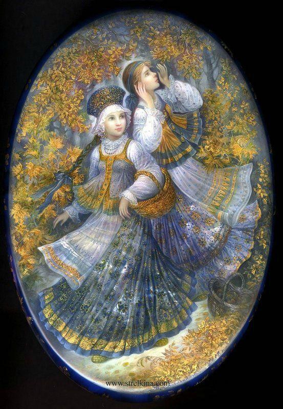 Волшебная федоскинская роспись Надежды Стрелкиной - Форум по искусству и инвестициям в искусство