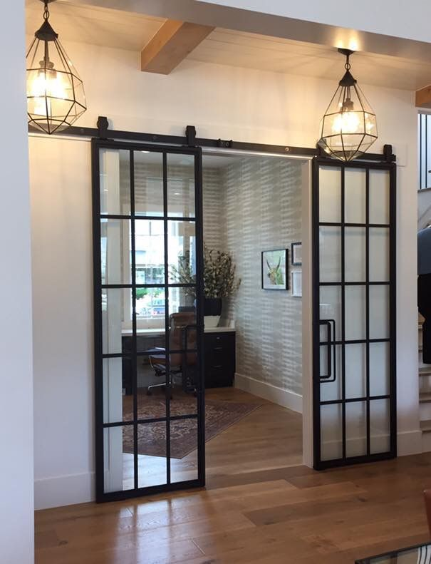 Glass Doors For Entry To Office And 2nd Bedroom Glass Would Be Frosted For Privacy To Bed Interior Sliding Barn Doors Sliding Doors Interior Glass Barn Doors