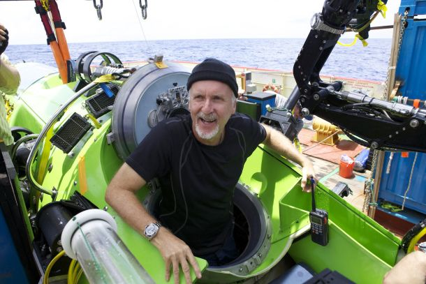 James Cameron hits the world's floor -- and returns by David Hamilton, CNET: Cameron piloted the Deepsea Challenger to the bottom of the Mariana  Trench  35,756 feet down, then spent three hours filming and taking samples before safely returning to the surface. photo by nationalgeographic  #James _Cameron #Mariana_Trench #David_Hamilton #cnn #nationalgeographic